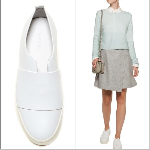 Vince Wallace Leather Platform Sneakers